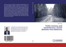 Borítókép a  Public memory and remembrance: Jewish destinies from Bukovina - hoz