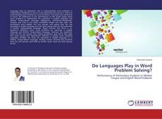 Couverture de Do Languages Play in Word Problem Solving?