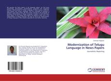 Buchcover von Modernization of Telugu Language in News Papers