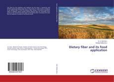 Dietary fiber and its food application kitap kapağı