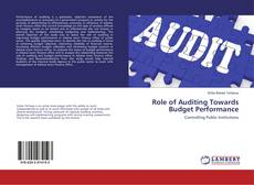 Bookcover of Role of Auditing Towards Budget Performance