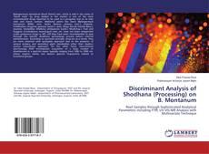 Couverture de Discriminant Analysis of Shodhana (Processing) on B. Montanum