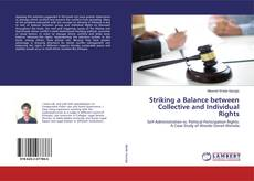 Bookcover of Striking a Balance between Collective and Individual Rights