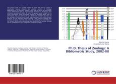 Portada del libro de Ph.D. Thesis of Zoology: A Bibliometric Study, 2002-08