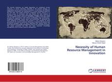 Bookcover of Necessity of Human Resource Management in Innovation