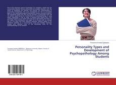 Capa do livro de Personality Types and Development of Psychopathology Among Students