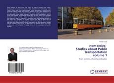 Обложка new series: Studies about Public Transportation volume 1