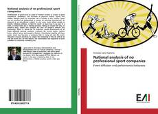 Copertina di National analysis of no professional sport companies