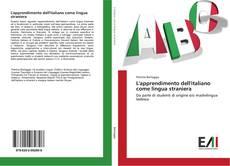 Portada del libro de L'apprendimento dell'italiano come lingua straniera