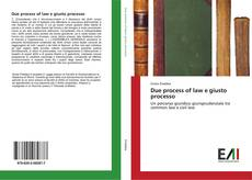 Bookcover of Due process of law e giusto processo