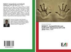 Bookcover of MiBACT, Competitività con Galbraith attuazione D.P.C.M 28-8-14 n. 171