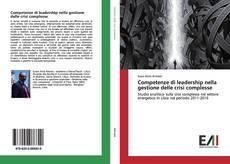 Portada del libro de Competenze di leadership nella gestione delle crisi complesse