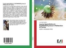Buchcover von Laurea Specialistica in ECODESIGN presso il Politecnico di Torino