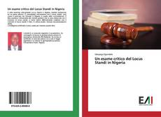 Copertina di Un esame critico del Locus Standi in Nigeria