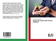 Buchcover von Analisi del rischio nella finanza moderna