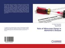 Bookcover of Role of Mimusops Elengi in Alzheimer's Disease