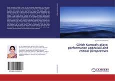 Capa do livro de Girish Karnad's plays: performance appraisal and critical perspectives