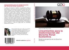 Bookcover of Lineamientos para la modernización del Derecho Penal Sustantivo