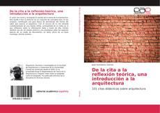 Portada del libro de De la cita a la reflexión teórica, una introducción a la arquitectura
