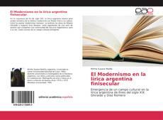Portada del libro de El Modernismo en la lírica argentina finisecular