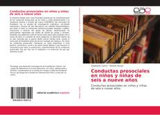 Conductas prosociales en niños y niñas de seis a nueve años kitap kapağı
