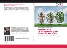 Copertina di Metódica de Investigación para Ciencias Sociales