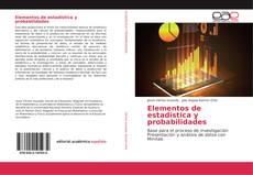 Elementos de estadística y probabilidades的封面