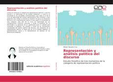 Portada del libro de Representación y análisis político del discurso