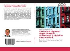 Bookcover of Extinción régimen legal división horizontal y división cosa común