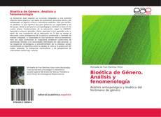 Bioética de Género. Análisis y fenomenología kitap kapağı