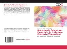 Portada del libro de Docente de Educación Especial y la Inclusión: Contexto Venezolano