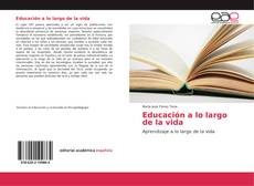 Bookcover of Educación a lo largo de la vida