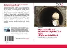 Bookcover of Tratamiento de efluentes líquidos de baja biodegradabilidad