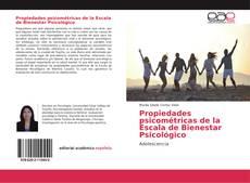 Bookcover of Propiedades psicométricas de la Escala de Bienestar Psicológico