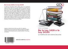 Bookcover of De la Ley 1420 a la Ley 24195