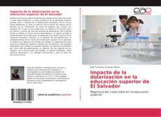Portada del libro de Impacto de la dolarización en la educación superior de El Salvador