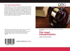 Portada del libro de The legal interpretation