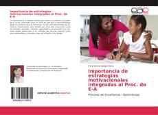 Portada del libro de importancia de estrategias motivacionales integradas al Proc. de E-A