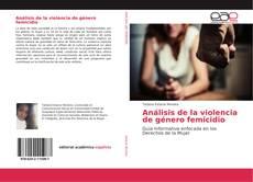 Обложка Análisis de la violencia de género femicidio