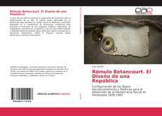 Portada del libro de Rómulo Betancourt. El Diseño de una República