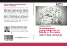 Portada del libro de Efectividad del emprendimiento del Estado en Colombia