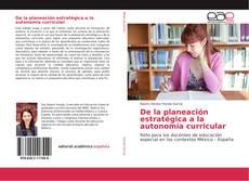 Обложка De la planeación estratégica a la autonomía curricular