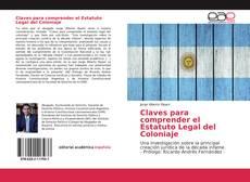 Portada del libro de Claves para comprender el Estatuto Legal del Coloniaje