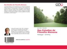 Capa do livro de Dos Estudios de Filosofía Alemana