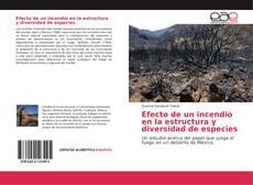 Capa do livro de Efecto de un incendio en la estructura y diversidad de especies