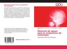 Buchcover von Material de apoyo para la asignatura de radiología