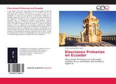 Elecciones Primarias en Ecuador kitap kapağı