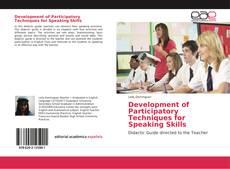 Обложка Development of Participatory Techniques for Speaking Skills
