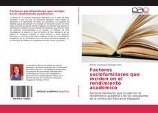 Buchcover von Factores sociofamiliares que inciden en el rendimiento académico