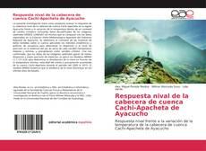 Respuesta nival de la cabecera de cuenca Cachi-Apacheta de Ayacucho kitap kapağı